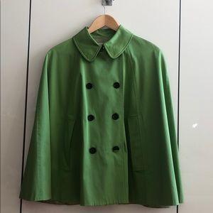 Nine West Green Lined Poncho Jacket